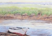 Row Boat On Brancaster Staithe v2